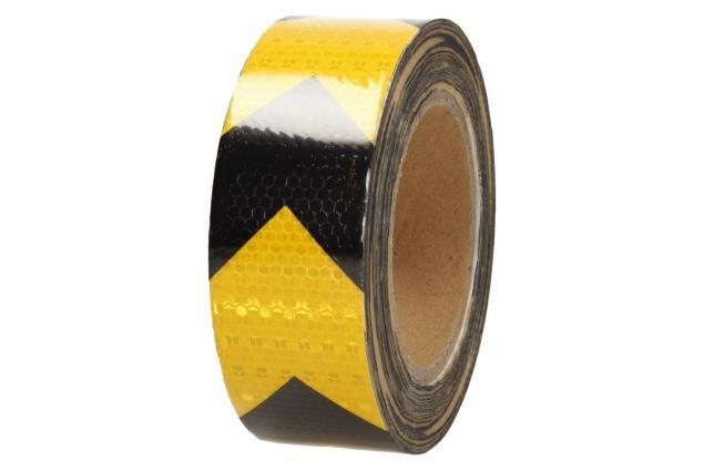 Foto 3 - Reflexní lepící páska šipky žlutá-černá