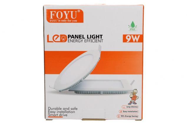 Foto 6 - LED stropní panel zápustný 9W kulatý