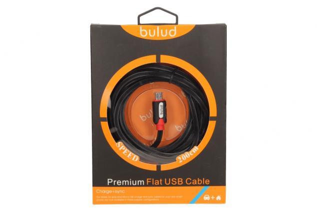 Foto 4 - Nabíjecí kabel micro flat USB 200 cm