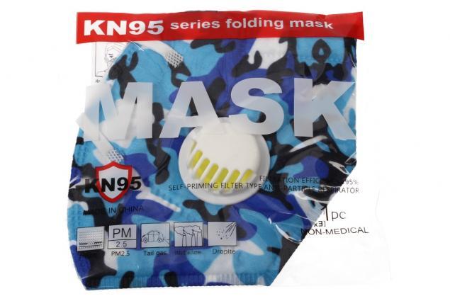 Foto 7 - Respirátor FFP2/KN95, respirační rouška maskáčová modrá