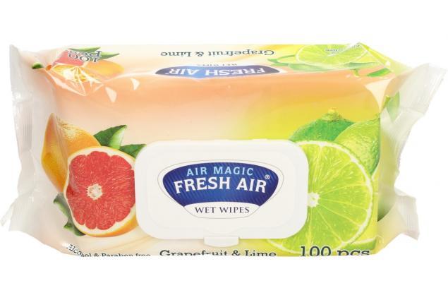 Foto 2 - Fresh Air vlhčené ubrousky 100ks Grapefruit & Lime