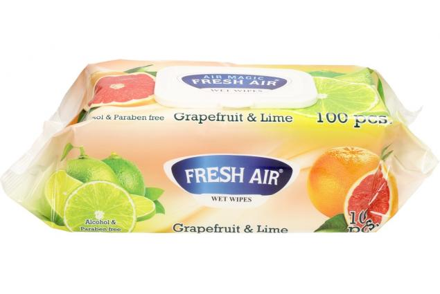 Foto 3 - Fresh Air vlhčené ubrousky 100ks Grapefruit & Lime