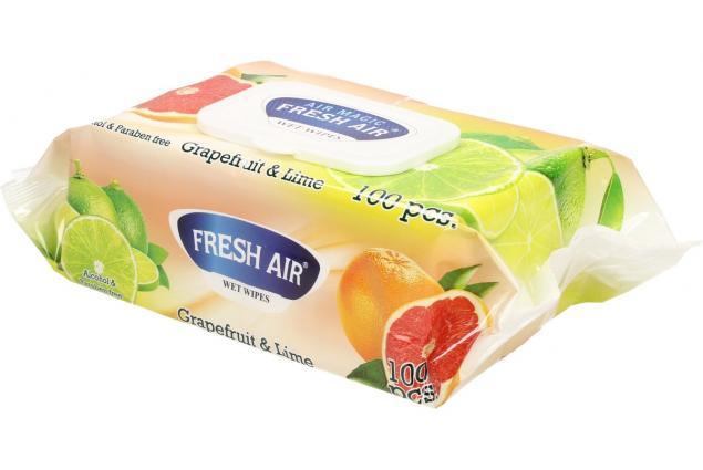 Foto 4 - Fresh Air vlhčené ubrousky 100ks Grapefruit & Lime