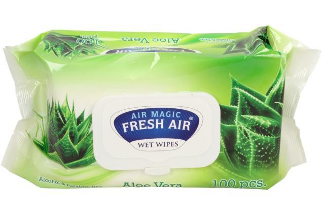 Foto 2 - Fresh Air vlhčené ubrousky 100ks Aloe Vera