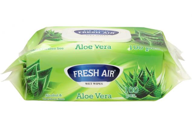 Foto 3 - Fresh Air vlhčené ubrousky 100ks Aloe Vera