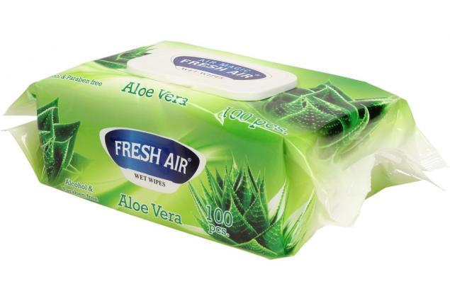 Foto 4 - Fresh Air vlhčené ubrousky 100ks Aloe Vera