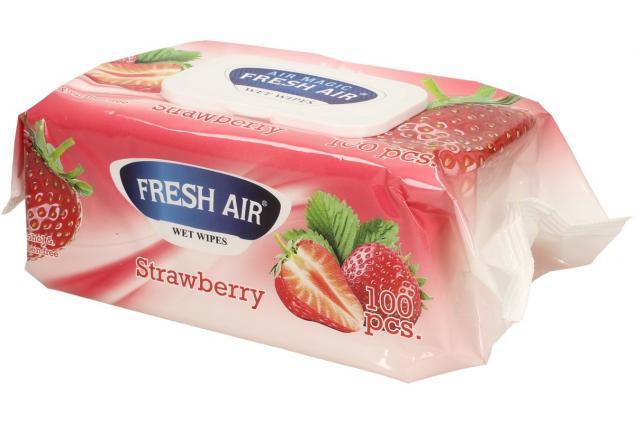Foto 4 - Fresh Air vlhčené ubrousky 100ks Strawberry