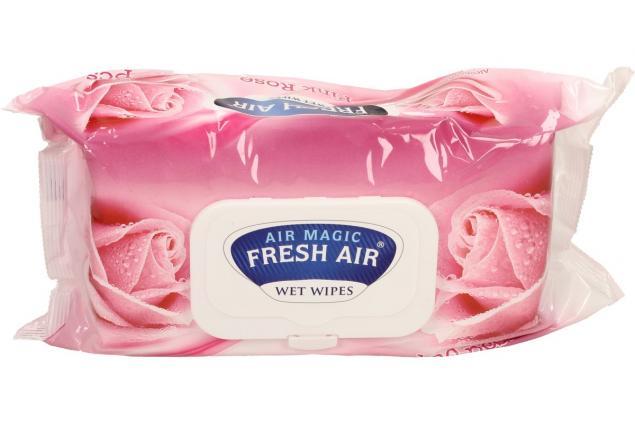 Foto 2 - Fresh Air vlhčené ubrousky 100ks Pink Rose