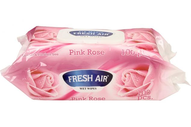 Foto 3 - Fresh Air vlhčené ubrousky 100ks Pink Rose