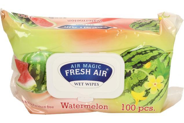 Foto 2 - Fresh Air vlhčené ubrousky 100ks Watermelon