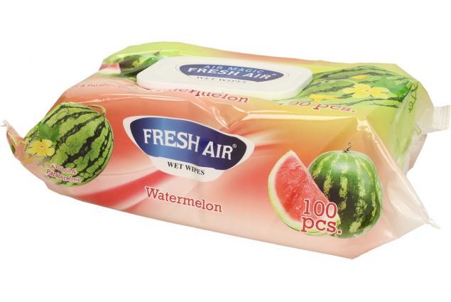 Foto 4 - Fresh Air vlhčené ubrousky 100ks Watermelon