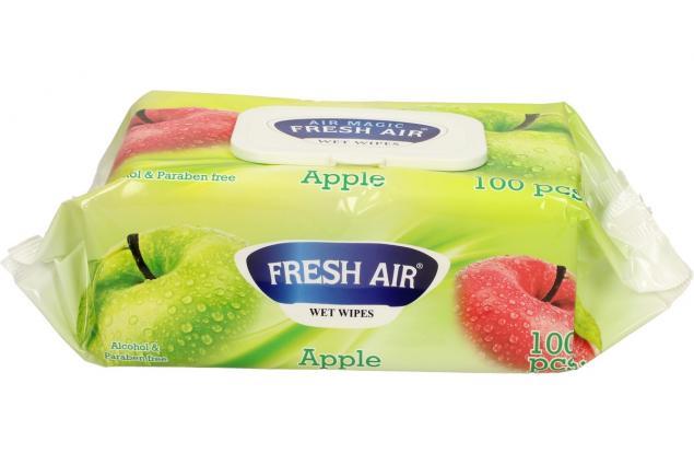 Foto 3 - Fresh Air vlhčené ubrousky 100ks Apple