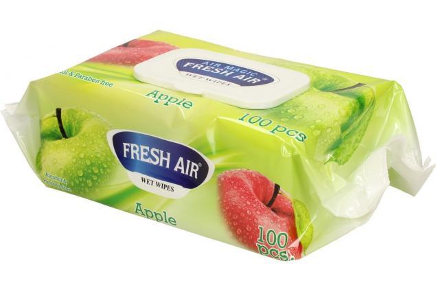 Foto 4 - Fresh Air vlhčené ubrousky 100ks Apple