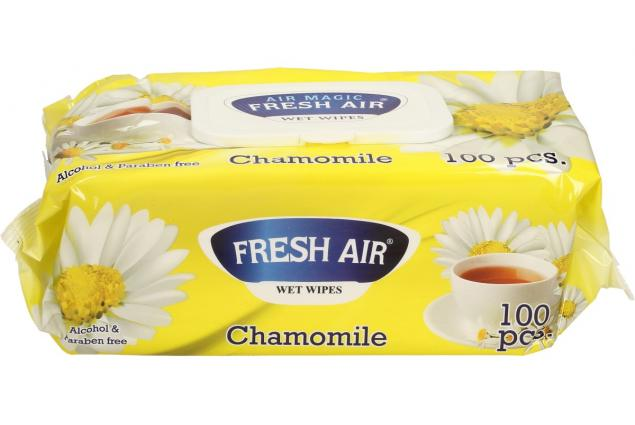Foto 3 - Fresh Air vlhčené ubrousky 100ks Chamomile