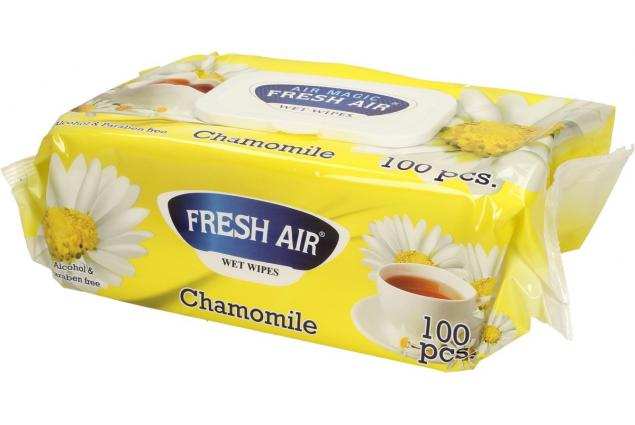 Foto 4 - Fresh Air vlhčené ubrousky 100ks Chamomile