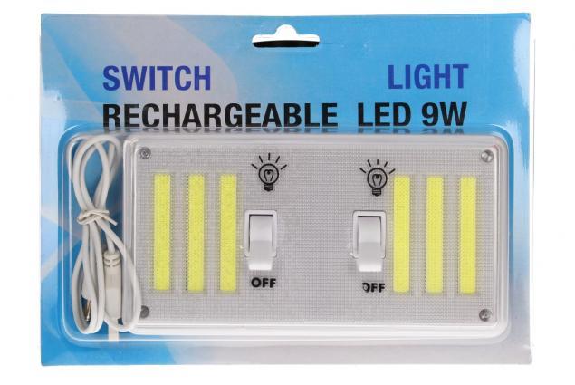 Foto 7 - Bezdrátové super světlo s vypínači, nabíjecí 9W