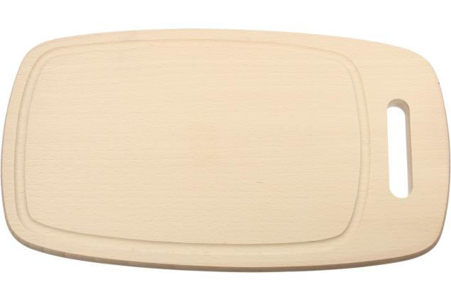 Foto 2 - Krájecí prkénko dřevěné oválné 32x18 cm s drážkou a držadlem