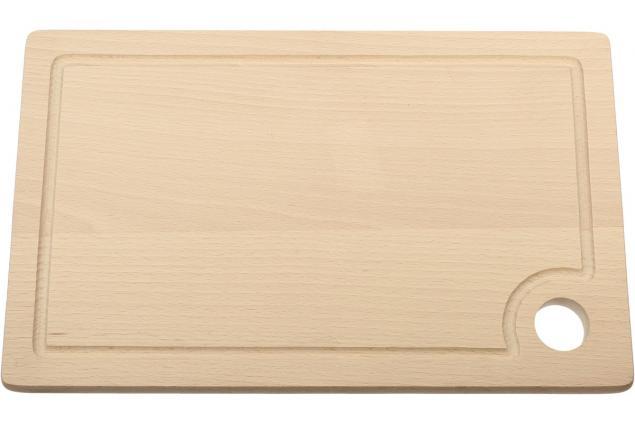 Foto 2 - Krájecí prkénko dřevěné 30x18 cm s drážkou a očkem