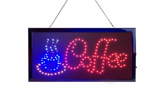 Foto 3 - Barevná světelná LED tabule COFFEE