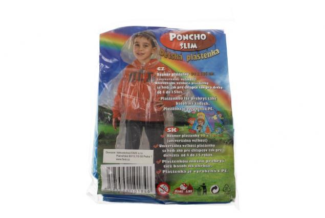 Foto 5 - Dětská pláštěnka poncho slim