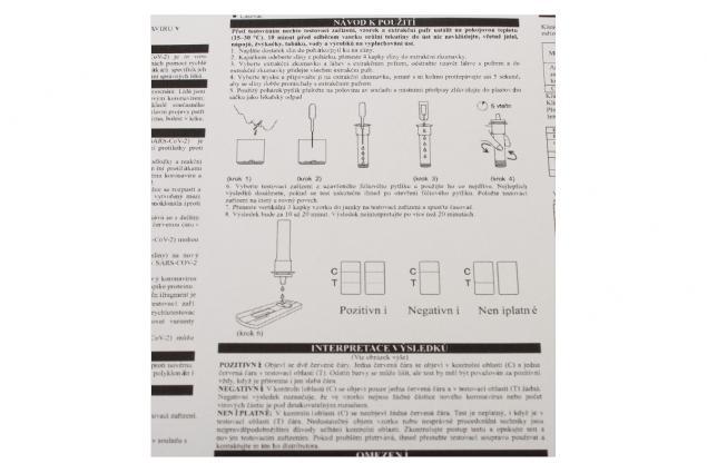 Foto 8 - Antigenní test ze slin Novel (SARS-CoV-2) 1 ks