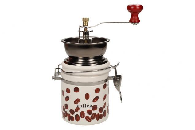 Foto 2 - Ruční mlýnek na kávu kulatý keramický