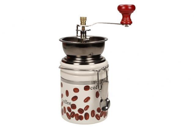 Foto 3 - Ruční mlýnek na kávu kulatý keramický