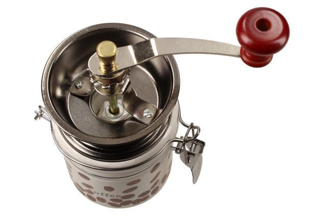 Foto 4 - Ruční mlýnek na kávu kulatý keramický