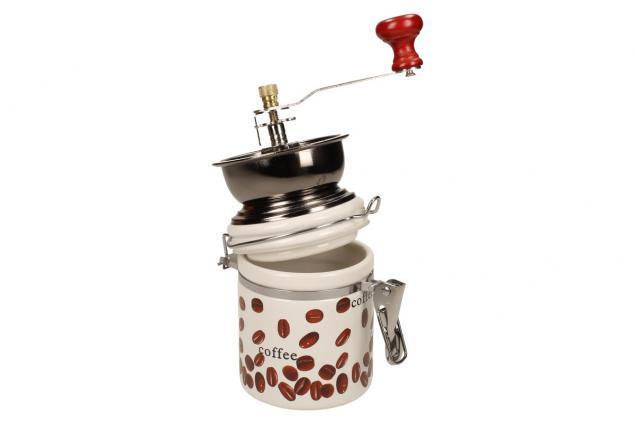 Foto 5 - Ruční mlýnek na kávu kulatý keramický