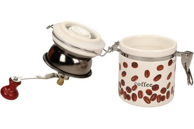Foto 6 - Ruční mlýnek na kávu kulatý keramický