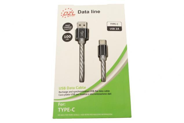 Foto 3 - Nabíjecí kabel DZL 2A USB/ USB typ-C 100 cm