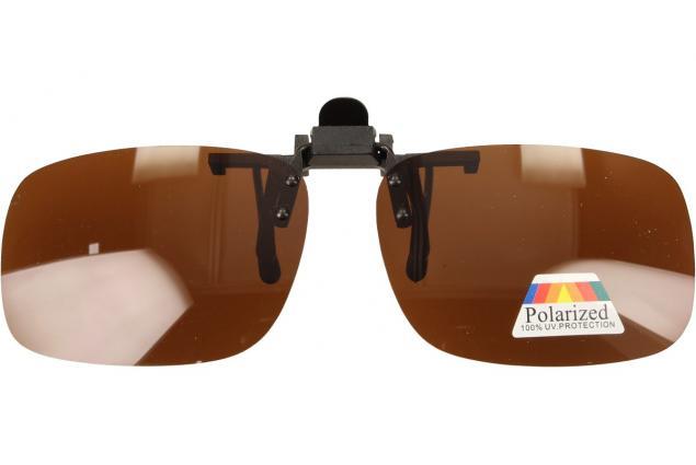 Foto 3 - Polarizační sluneční Klip na brýle hnědé