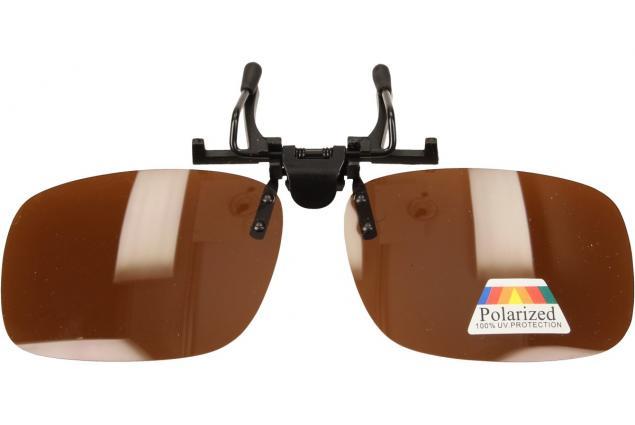 Foto 4 - Polarizační sluneční Klip na brýle hnědé