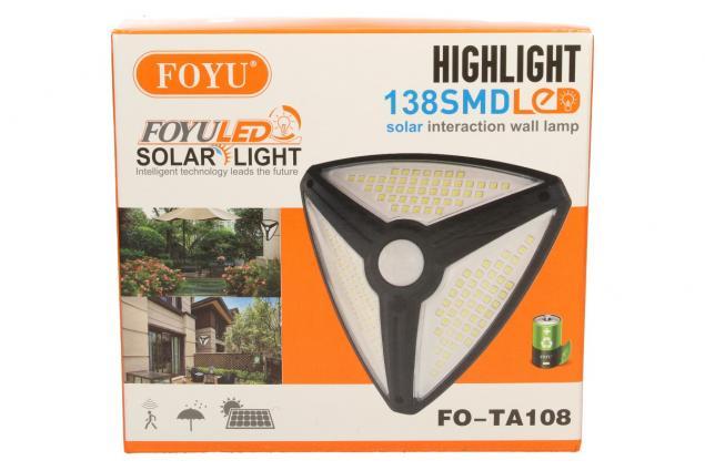 Foto 8 - Trojúhelníkové LED solární světlo s pohybovým čidlem FO-TA108