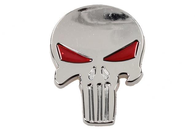 Foto 2 - Samolepka stříbrná lebka vetřelec s očima