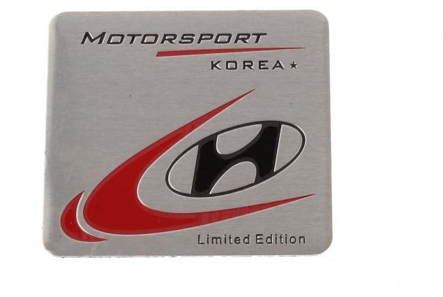 Foto 2 - Kovová samolepka Hyundai Korea MOTORSPORT