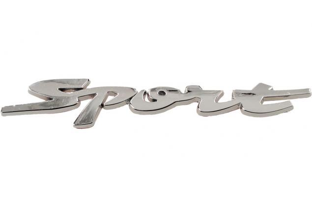 Foto 2 - Kovová samolepka Sport stříbrná 12 x 2 cm