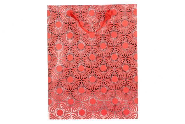 Foto 2 - Dárková taška Kytky červená 23x18 cm