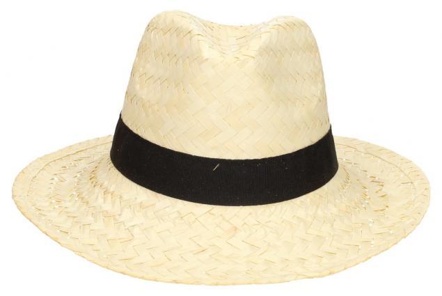 Foto 2 - Slaměný kovbojský klobouk světlý s černým páskem