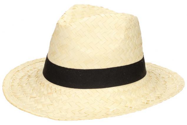 Foto 3 - Slaměný kovbojský klobouk světlý s černým páskem