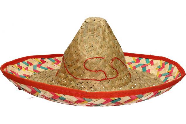 Foto 2 - Slaměné sombrero zeleno-červené