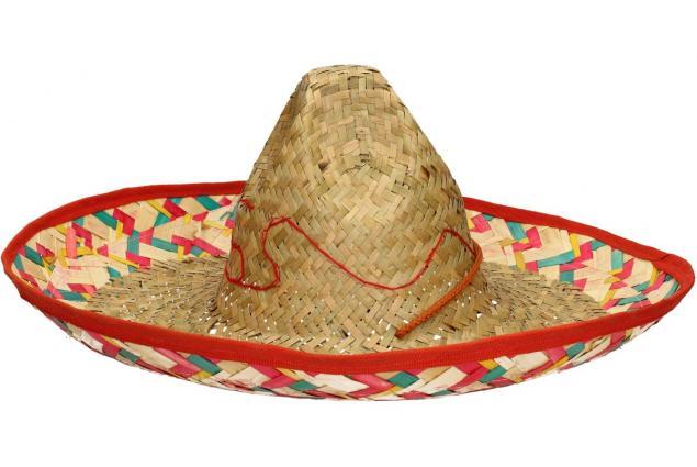 Foto 3 - Slaměné sombrero zeleno-červené