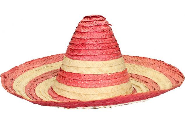 Foto 2 - Slaměné sombrero růžové