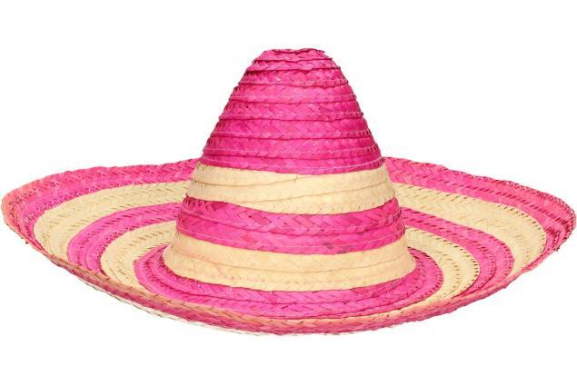 Foto 4 - Slaměné sombrero růžové