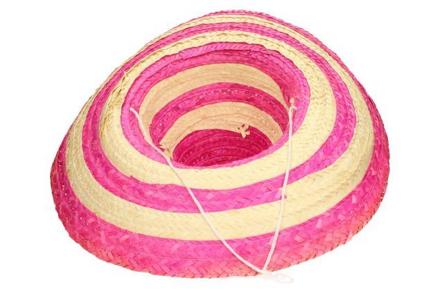 Foto 5 - Slaměné sombrero růžové