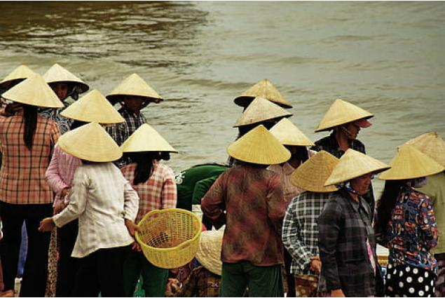 Foto 4 - Slaměný klobouk v asijském stylu
