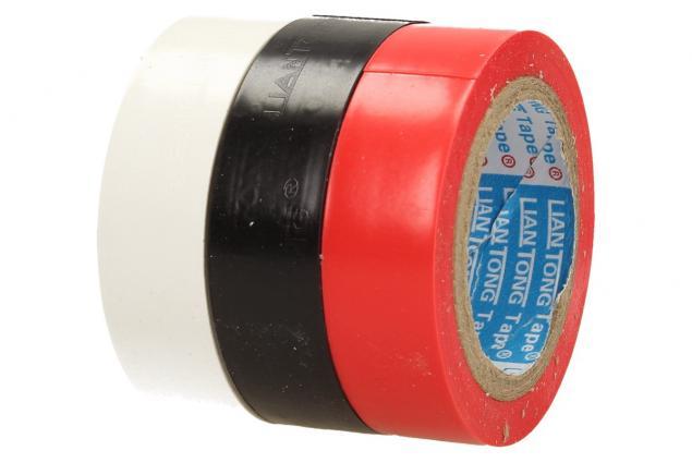 Foto 3 -  Sada izolačních samolepících pásek 3ks- bílá, černá,červená