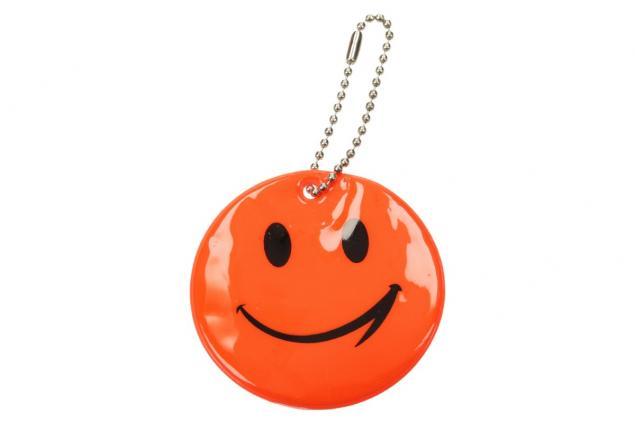 Foto 2 - Reflexní přívěšek smajlík oranžový