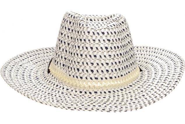 Foto 2 - Slaměný kovbojský klobouk modro-bílý s pleteným páskem