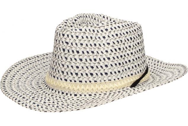 Foto 3 - Slaměný kovbojský klobouk modro-bílý s pleteným páskem
